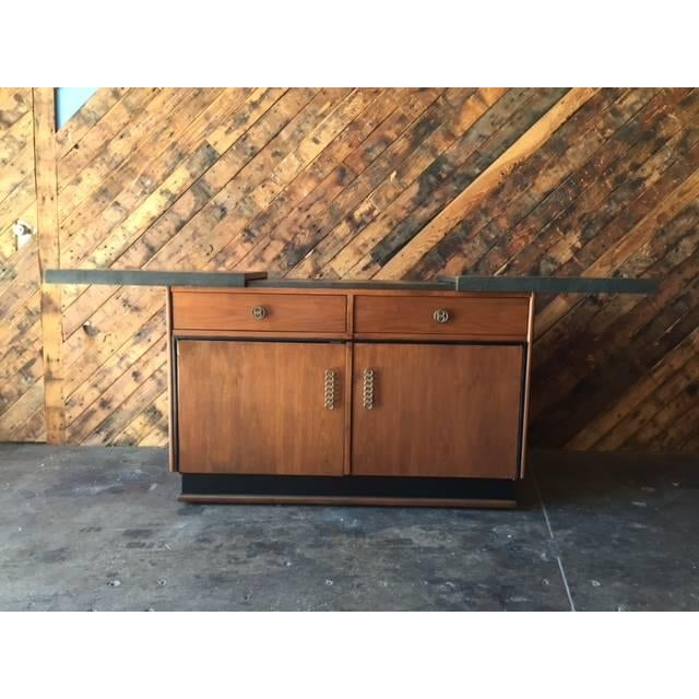 Mid Century Transforming Cocktail Bar Cabinet - Image 5 of 6