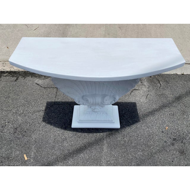 Grosfeld House Grosfeld House Plaster Shell Console For Sale - Image 4 of 5
