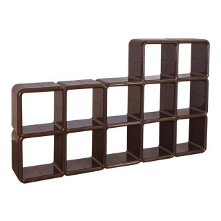 Kay Leroy Ruggles Brown Umbo Modular Shelf Unit for Directional For Sale