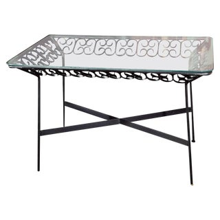 Arthur Umanoff Wrought Iron Table For Sale