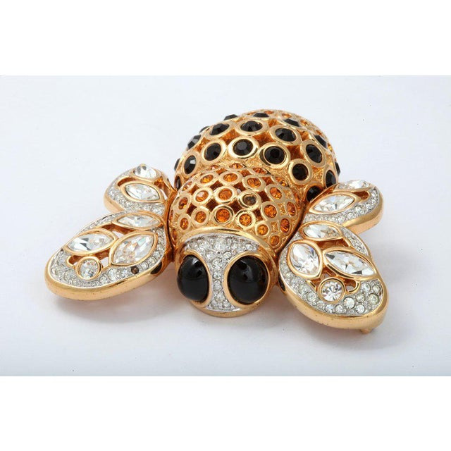 Large French Bumble Bee Brooch For Sale In New York - Image 6 of 8