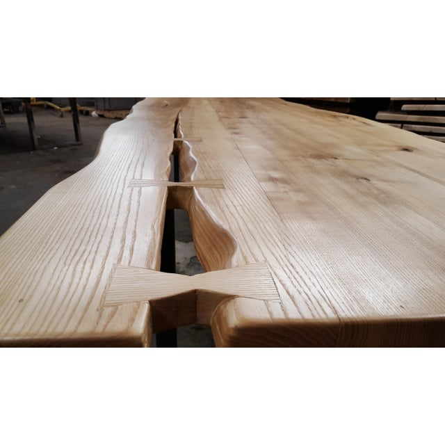 Handcrafted Siberian Ash Wood Plank Table - Image 5 of 6