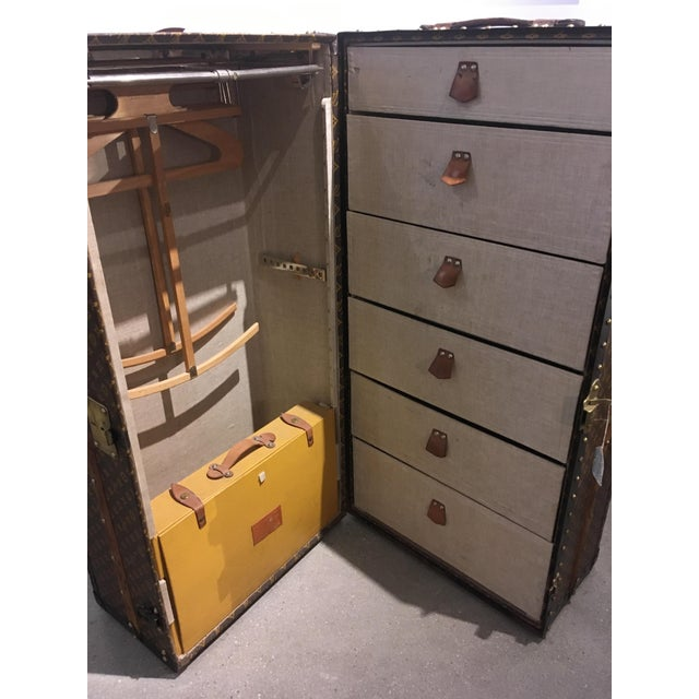 Early 20th Century Louis Vuitton Wardrobe Trunk For Sale - Image 5 of 9