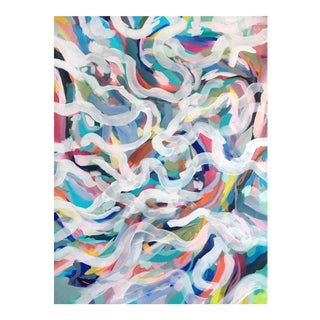 """Summer Pool"" Original Large Abstract Painting"