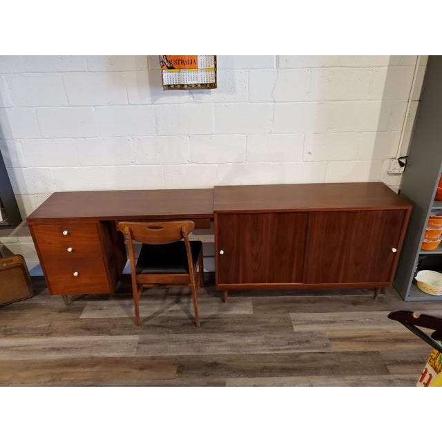 Mid-Century Modern Desk & Credenza - A Pair For Sale - Image 12 of 13