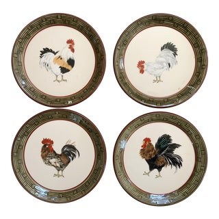 French Rooster Plates