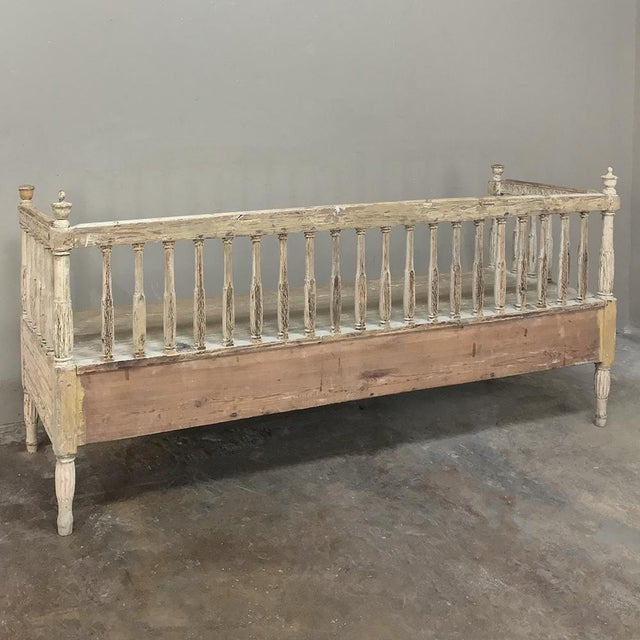 18th Century Swedish Gustavian Period Day Bed ~ Hall Bench Ca. 1790 For Sale - Image 12 of 13