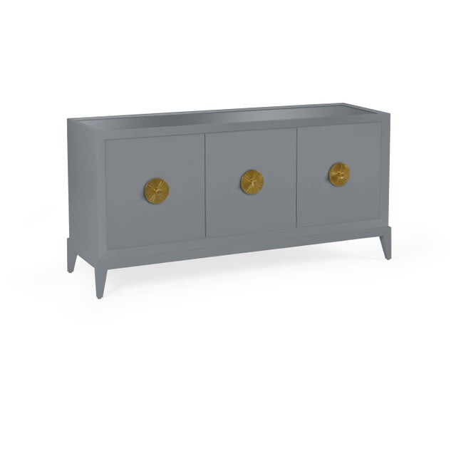 Transitional Casa Cosima Hayes Sideboard, Dior Gray For Sale - Image 3 of 5