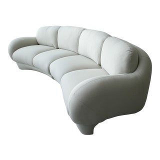 2 Piece Curved Post Modern Sofa by Preview Furniture For Sale