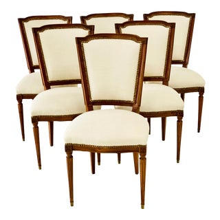 Early 20th Century French Dining Chairs - Set of 6 For Sale