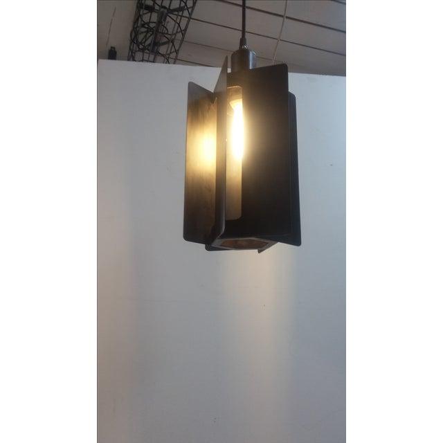 Industrial Turbine Pendant Light For Sale - Image 3 of 5