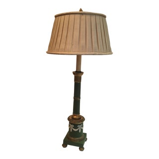 Italian NeoClassical Ceramic Table Lamp For Sale