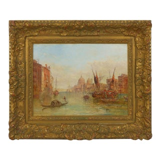 Authentic Antique Oil Painting of Grand Canal, Venice by Alfred Pollentine, Signed, 1889 For Sale