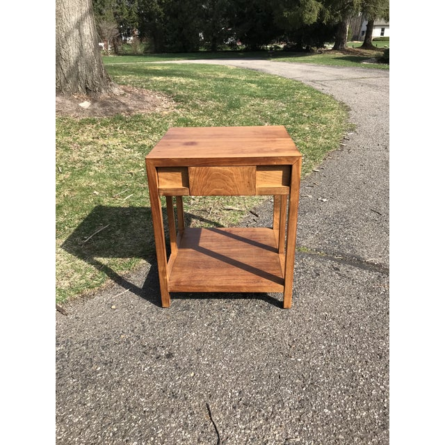Brown Mid Century Walnut Side Table by Widdicomb For Sale - Image 8 of 8
