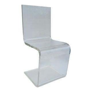 C.1960's Vintage Charles Hollis Jones Sculptural Lucite Cantilevered Side/Desk or Accent Chair For Sale