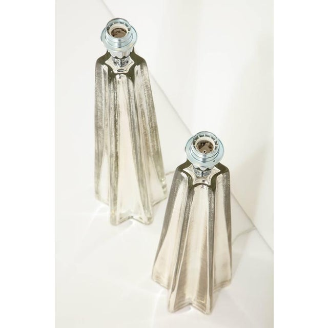 """Early 20th Century Mercury Glass Star """"Etoile"""" Lamps - A Pair For Sale - Image 5 of 9"""