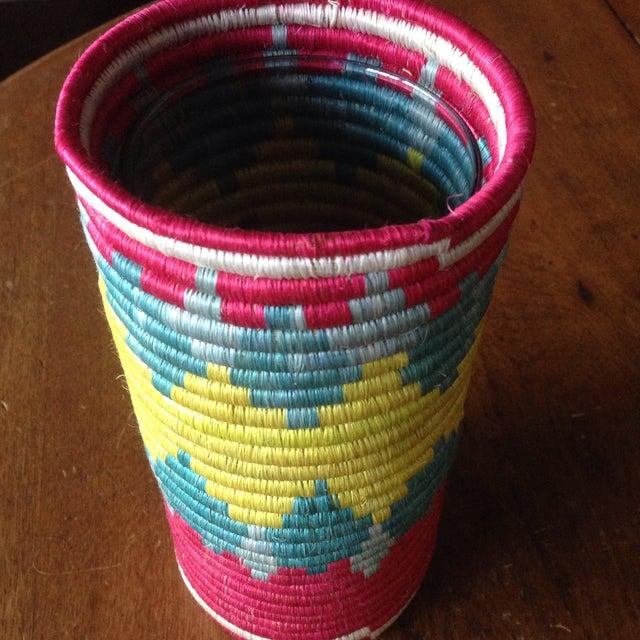 Vintage Moroccan Straw Floral Vase - Image 7 of 11