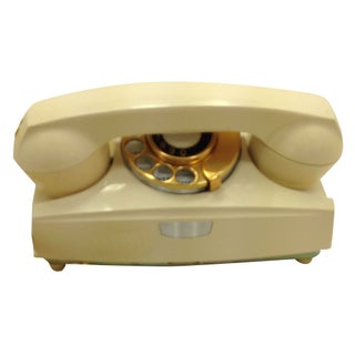 Ivory Rotary Dial Phone Modular