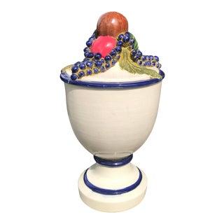 Vintage Large Italian Style Fruit Urn For Sale