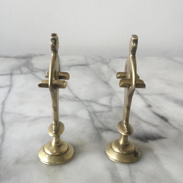 """1920s Brass """"Bellhop"""" Cigarette Holders - A Pair - Image 3 of 4"""