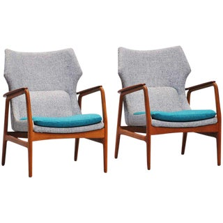 Pair of Bovenkamp Wingback Chairs with New Upholstery, 1960