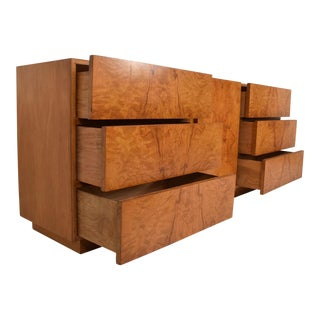 Milo Baughman Burlwood Dresser by LANE, Mid Century Modern For Sale
