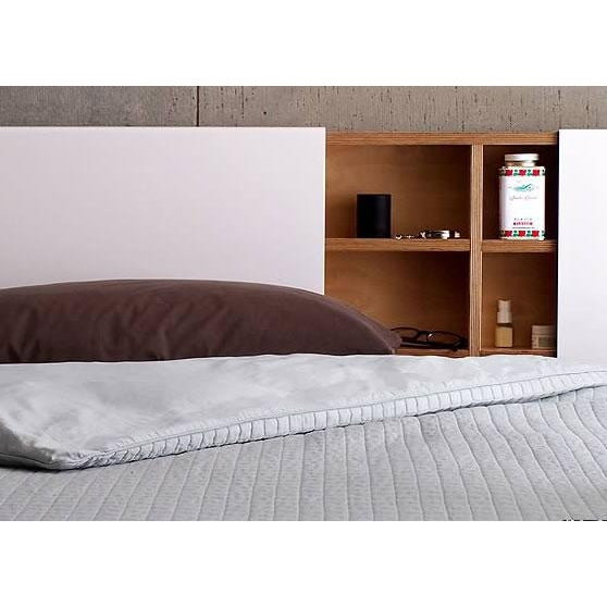 Wood Platform Bed Queen with Storage Drawers and Solid Wood Hung Storage Headboard - 2 Pieces For Sale - Image 7 of 10