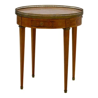 Marble Top French Bouillotte Table For Sale