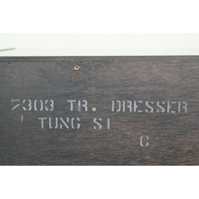 Tung Si Collection Ebonized Black & Teak Dresser For Sale - Image 5 of 10