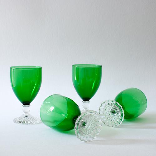 Anchor Hocking Emerald Wine Goblets - Set of 4 For Sale - Image 4 of 4