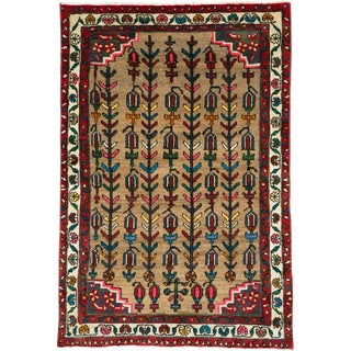 "Vintage Persian Hamadan Rug – Size: 3"" X4' 5"" For Sale"