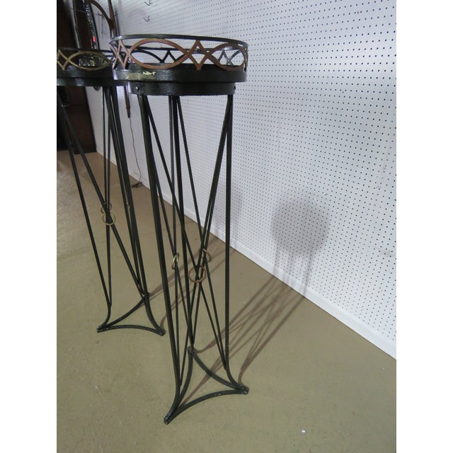 Pair of Hollywood Regency Style Plant Stands For Sale In Philadelphia - Image 6 of 7