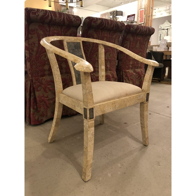 Contemporary Vintage Stone Chair For Sale - Image 3 of 6