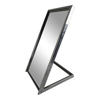 Chrome Modern Vanity Mirror For Sale
