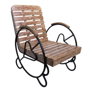 Teak Deco Arm Chair For Sale