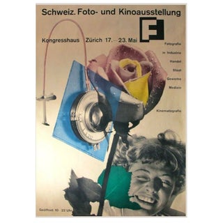 1951 Honegger-Lavater Swiss Exhibition Poster