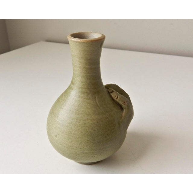 Mini Bud Vase with Hand in Celadon - Image 4 of 8