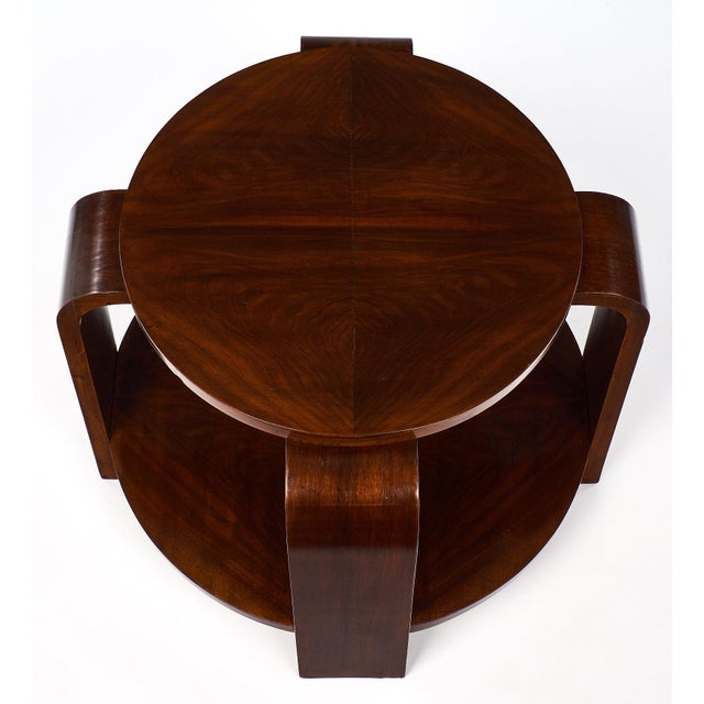 Art Deco Period Walnut Gueridon For Sale - Image 4 of 11