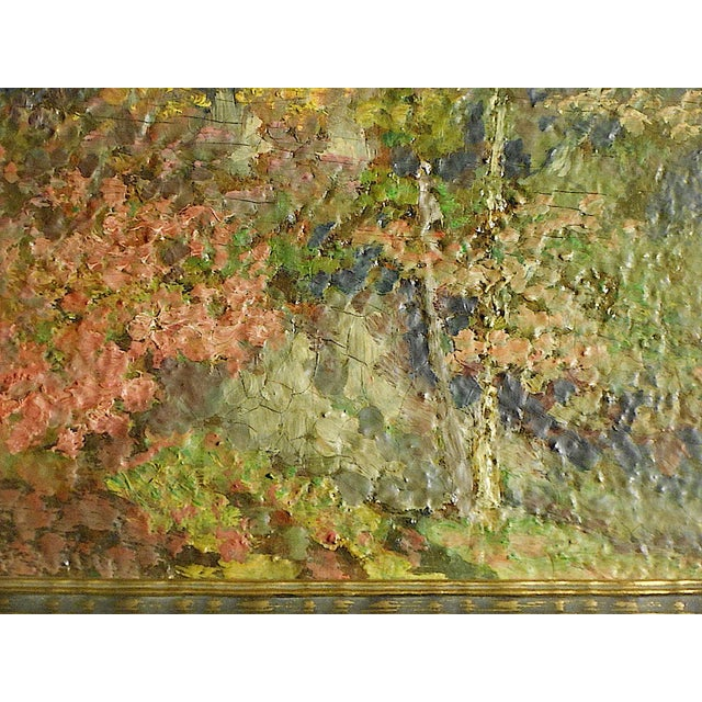 Impressionist Vintage Impressionist Woodland Scene-Framed For Sale - Image 3 of 6