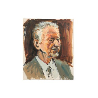 Portrait of Danish Physicist & Professor Ove Nathan by Mogens Hoff For Sale