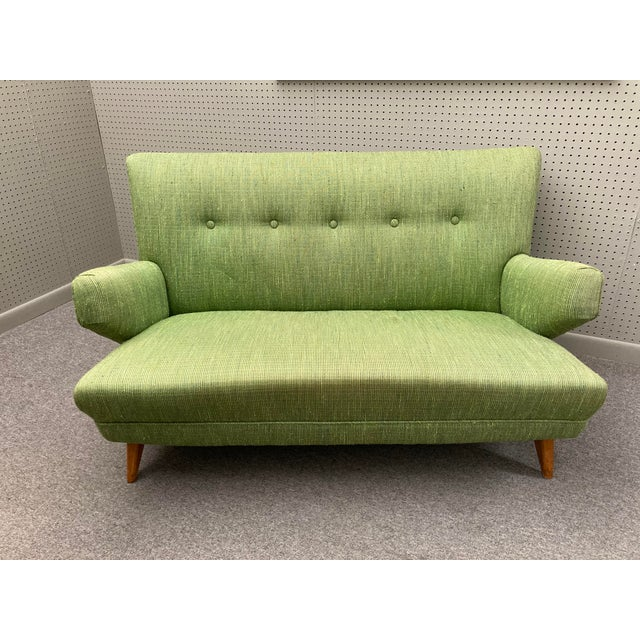Wood 1950s Jens Risom for Knoll Settee For Sale - Image 7 of 7