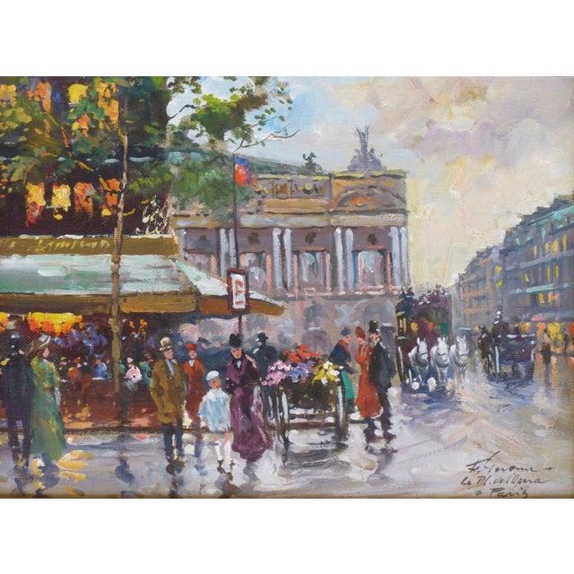 1950s Vintage Francois Gerome Parisian Scene Paintings - A Pair For Sale - Image 9 of 12