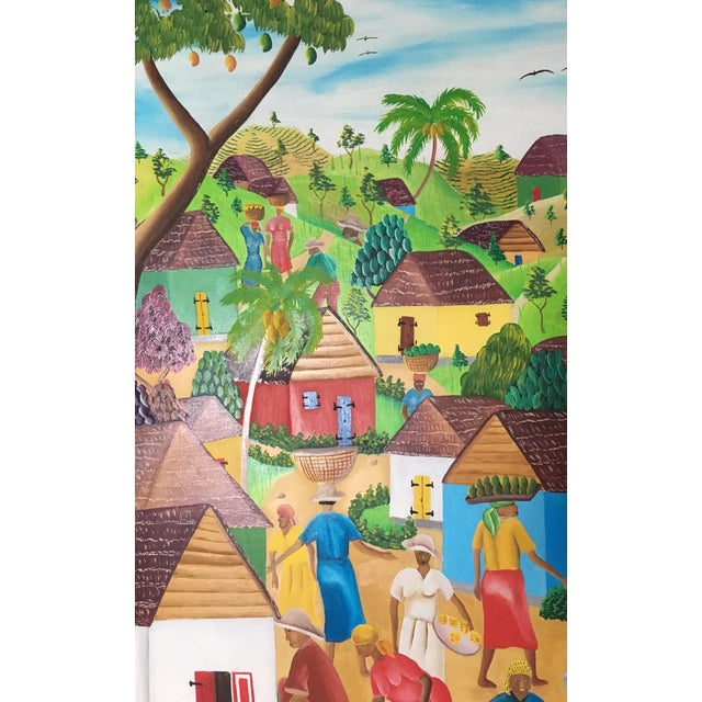Mid-Century Haitian Painting by Raymond Surpris For Sale In Tampa - Image 6 of 6