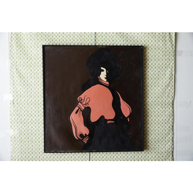 60s Mod Stylized Portrait of a Woman For Sale - Image 9 of 9