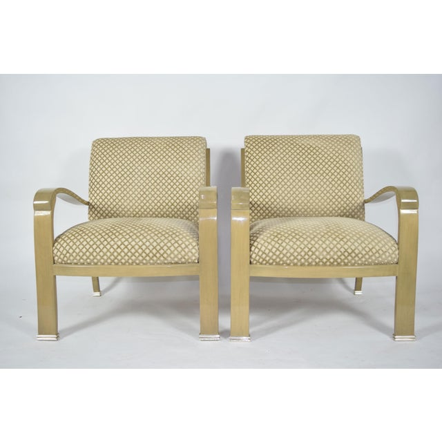 Superior J. Robert Scott Salon Deco Lounge Chairs By Sally