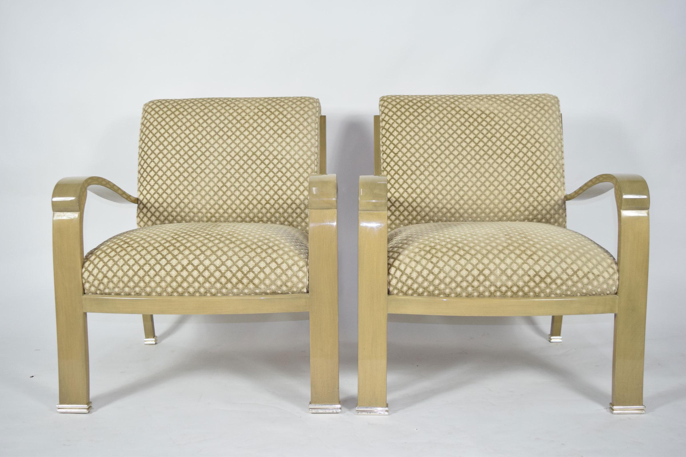 Six J. Robert Scott Salon Deco Lounge Chairs By Sally Sirkin Lewis   Image 9