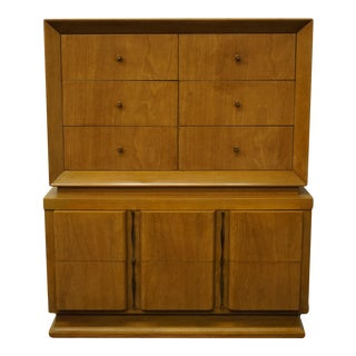 "Mid Century Modern American of Martinsville 42"" Chest on Chest For Sale"