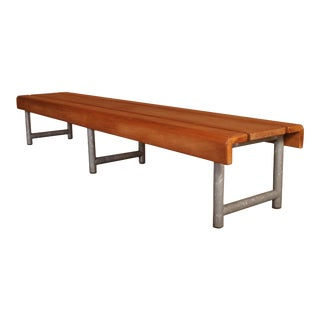 1970s Industrial School Bench/Coffee Table For Sale