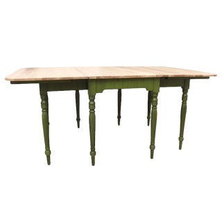 Early 20th Century Drop-Leaf Farm Table For Sale