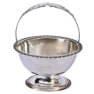 Antique English Silverplated Sugar Dish For Sale